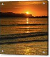 Vibrant Orange Sunrise Seascape Acrylic Print