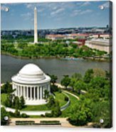 View Of The Jefferson Memorial And Washington Monument Acrylic Print