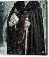 Viking Warrior With Sword Acrylic Print