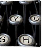 Vintage Typewriter Keys Close Up Acrylic Print