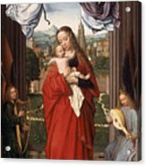 Virgin And Child With Four Angels Acrylic Print
