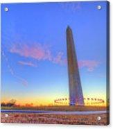 Washington Monument Sunset Acrylic Print