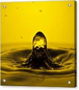 Water Droplet Jet Acrylic Print