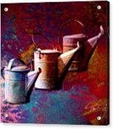 3 Watering Cans No.1 Acrylic Print