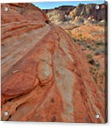 Wave Of Color In Valley Of Fire Acrylic Print