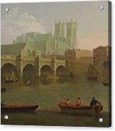 Westminster Abbey And Bridge Acrylic Print