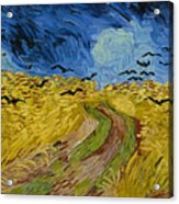 Wheat Field With Crows Acrylic Print