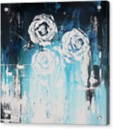 3 White Roses Acrylic Print
