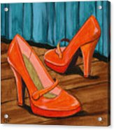 Who Wears These Shoes Acrylic Print