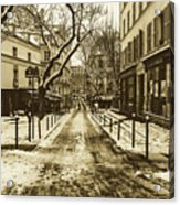 Winter In Paris Acrylic Print