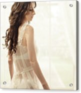 Woman In Vintage Negligee Acrylic Print