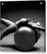Woman On A Ball Acrylic Print