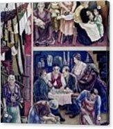Wpa Mural. Society Freed Through Acrylic Print