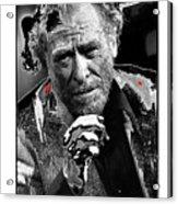 Writer Charles Bukowski On Tv Show Apostrophes September 1978-2013 Acrylic Print
