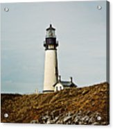 Yaquina Head Lighthouse - Toned By Texture Acrylic Print
