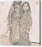 Young Comanche Girls Acrylic Print