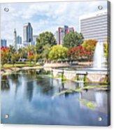 Charlotte North Carolina Cityscape During Autumn Season Acrylic Print