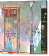 30  French Quarter Graffiti  Acrylic Print