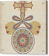 "Santa Barbara Mission Doorway Design From The Portfolio ""decorative Art Of Spanish California"" Acrylic Print"