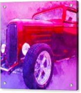 32 Highboy Watercolour Deuce On Acid Acrylic Print