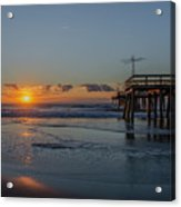 32nd Street Pier Avalon Nj - Sunrise Acrylic Print