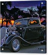 33 Ford On The Mexico Beach Acrylic Print