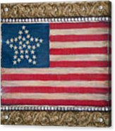 33 Star American Flag. Painting Of Antique Design Acrylic Print