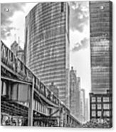 333 W Wacker Drive Black And White Acrylic Print