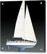 33b Gallant Sailing Acrylic Print