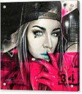 34 Dj Girl Acrylic Print