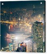 Hong Kong Victoria Harbour  Acrylic Print