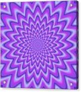 Psycho Hypno Floral Pattern Acrylic Print