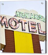 Route 66 Cars Cafes Restaurants Hotels Motels Acrylic Print