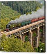 34067 Tangmere Crossing St Pinnock Viaduct. Acrylic Print