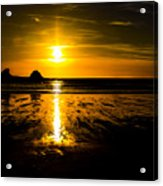 Sunset Bay Beach Acrylic Print