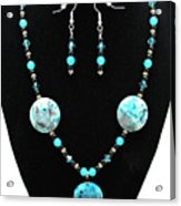 3508 Crazy Lace Agate Necklace And Earrings Acrylic Print