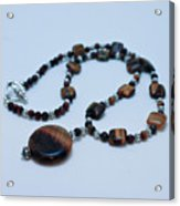 3516 Tiger Eye Necklace  Acrylic Print
