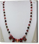 3541 Rhodonite And Jasper Necklace Acrylic Print