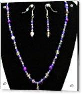 3546 Purple Veined Agate Set Acrylic Print