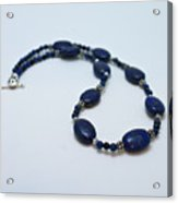 3553 Lapis Lazuli Necklace And Earrings Set Acrylic Print