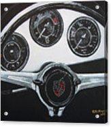 356 Porsche Dash Acrylic Print