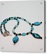 3564 Shell And Semi Precious Stone Necklace Acrylic Print