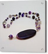 3573 Banded Agate Necklace  Acrylic Print