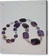 3575 Amethyst Necklace Acrylic Print