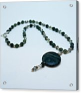 3577 Kambaba And Green Lace Jasper Necklace Acrylic Print