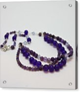 3580 Amethyst And Adventurine Necklace Acrylic Print