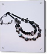 3587 Fun Gunmetal Necklace  Acrylic Print