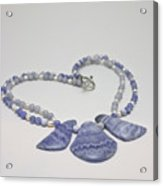 3588 Blue Banded Agate Necklace Acrylic Print