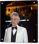 Andrea Bocelli In Concert Acrylic Print