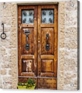Italian Door  Acrylic Print